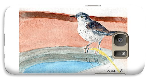 Galaxy Case featuring the painting Bird Bath by C Sitton