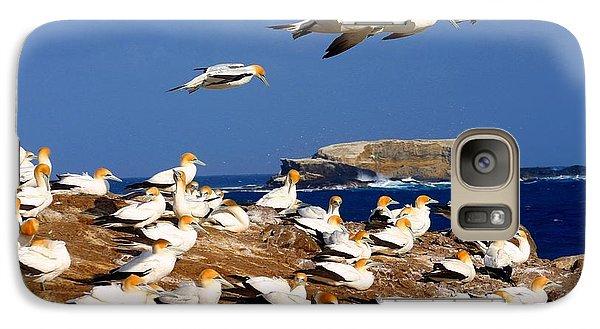 Galaxy Case featuring the photograph Bird Colony Australia by Henry Kowalski