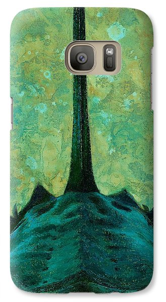 Galaxy Case featuring the painting Bird Dog by Pam Talley