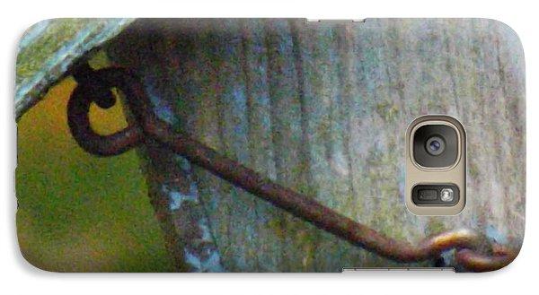 Galaxy Case featuring the photograph Bird Feeder Locked Memory by Brenda Brown