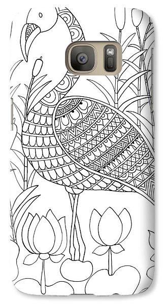 Bird Flamingo Galaxy S7 Case by Neeti Goswami