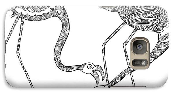 Bird Flamingos 2 Galaxy S7 Case by Neeti Goswami