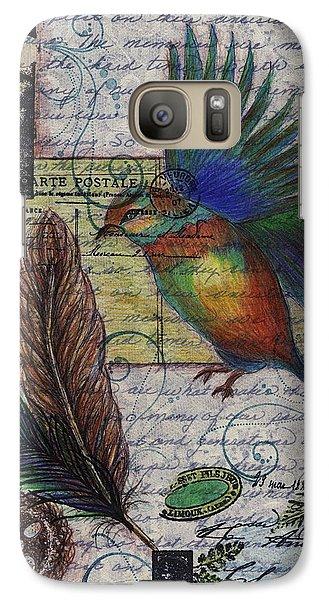 Galaxy Case featuring the drawing Bird Flight by Tamyra Crossley