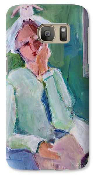 Galaxy Case featuring the painting Bird Girl 2 by Diane Ursin