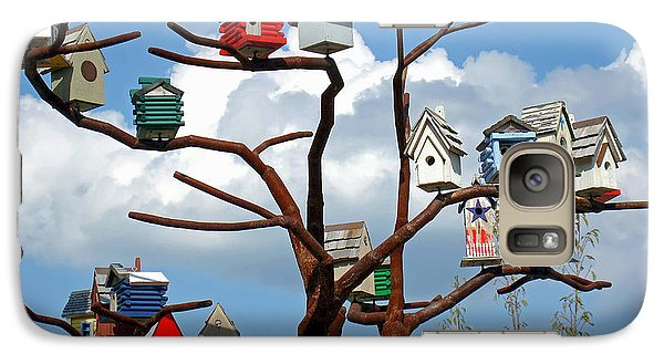 Galaxy Case featuring the photograph Bird House Village by Sue Melvin