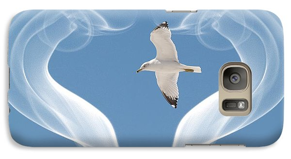 Galaxy Case featuring the photograph Bird In Flight by Athala Carole Bruckner
