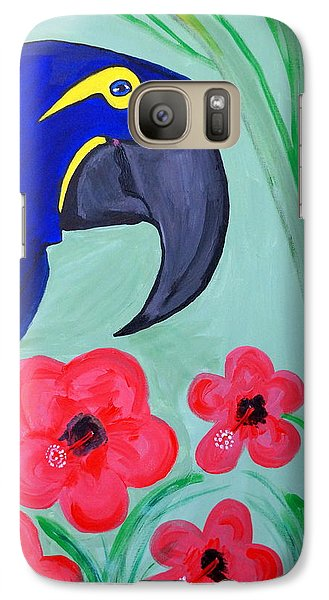 Galaxy Case featuring the painting Bird In Paradise   by Nora Shepley