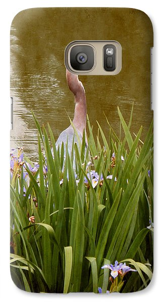 Galaxy Case featuring the photograph Bird In The Water by Milena Ilieva