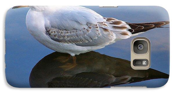 Galaxy Case featuring the photograph Bird Reflections by John Swartz