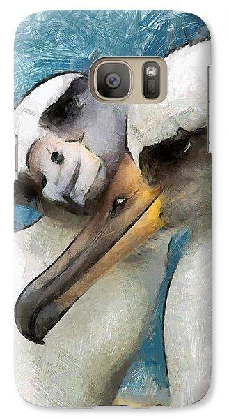 Galaxy Case featuring the painting Bird Love by Georgi Dimitrov