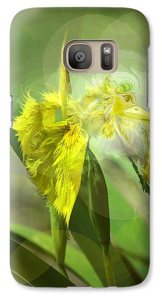 Galaxy Case featuring the photograph Bird Of Iris by Adria Trail