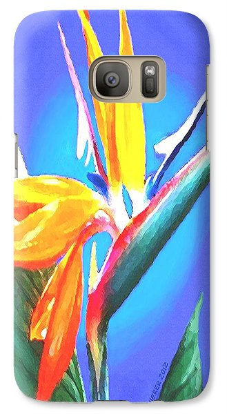 Galaxy Case featuring the painting Bird Of Paradise Flower by Sophia Schmierer
