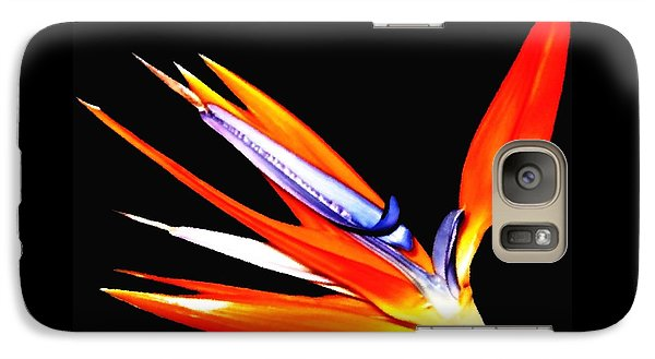 Galaxy Case featuring the photograph Bird Of Paradise Flower With Oil Painting Effect by Rose Santuci-Sofranko
