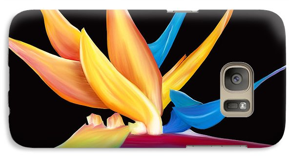 Galaxy Case featuring the painting Bird Of Paradise by Laura Bell