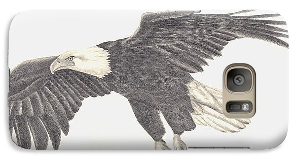 Galaxy Case featuring the drawing Bird Of Prey by Patricia Hiltz