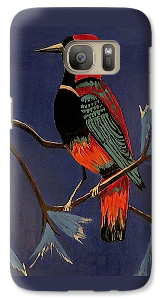 Galaxy Case featuring the painting Bird On A Branch by Kathleen Sartoris