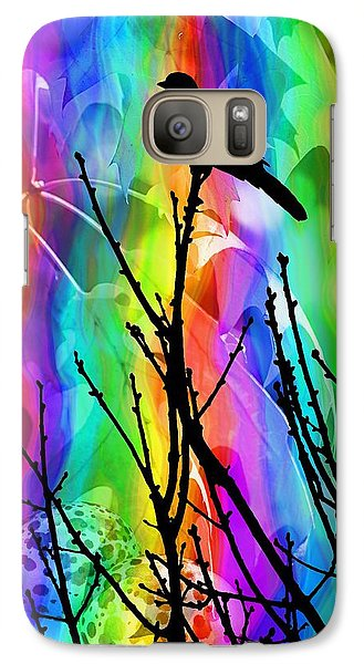Galaxy Case featuring the photograph Bird On A Stick by Elizabeth Budd