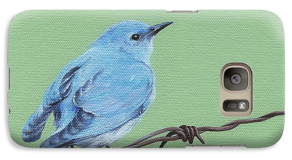 Galaxy Case featuring the painting Bird On A Wire by Natasha Denger
