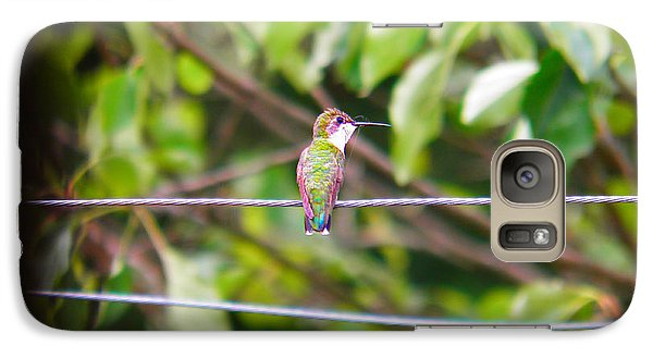 Galaxy Case featuring the photograph Bird On A Wire by Nick Kirby