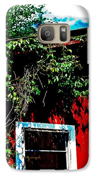 Galaxy Case featuring the photograph Bird On Roof by Maggy Marsh