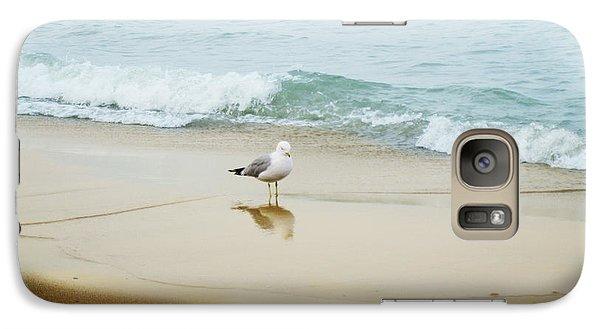 Galaxy Case featuring the photograph Bird On The Beach by Milena Ilieva