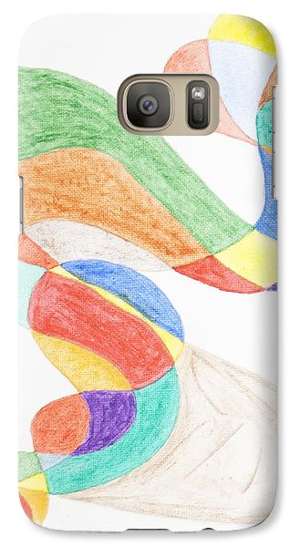 Galaxy Case featuring the painting Bird Snake by Stormm Bradshaw