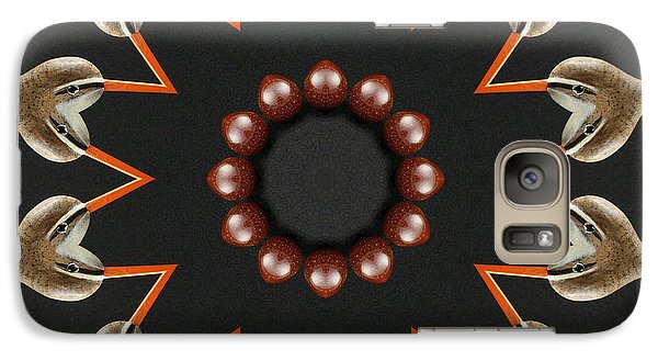 Galaxy Case featuring the photograph Bird With Egg Kaleidoscope by Betty Denise