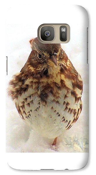Galaxy Case featuring the photograph Fox Sparrow In Snow by Janette Boyd