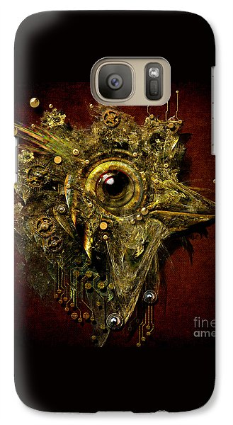 Galaxy Case featuring the digital art Birdmachine by Alexa Szlavics