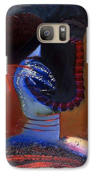 Galaxy Case featuring the painting Birdman Of Alcatraz by Carolyn Goodridge