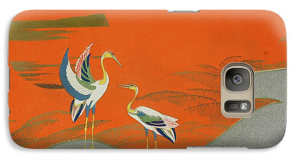 Birds At Sunset On The Lake Galaxy S7 Case by Kamisaka Sekka