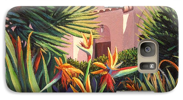 Galaxy Case featuring the painting Birds Of Paradise Garden by Cheryl Del Toro