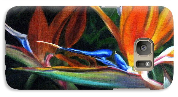 Galaxy Case featuring the painting Birds Of Paradise by LaVonne Hand