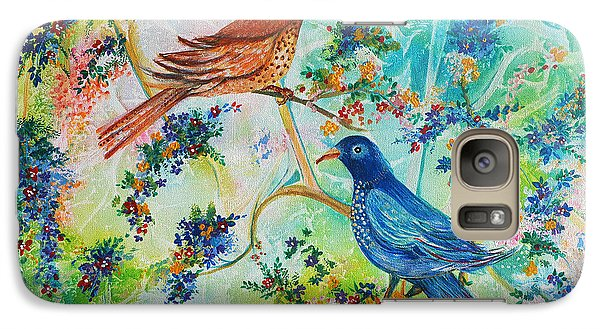Galaxy Case featuring the painting Birds Of Spring by Yolanda Rodriguez