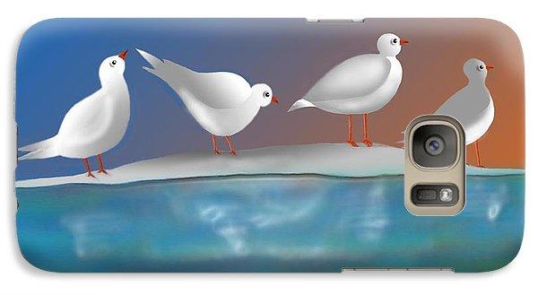 Galaxy Case featuring the digital art Birds Of Summer Breeze by Latha Gokuldas Panicker