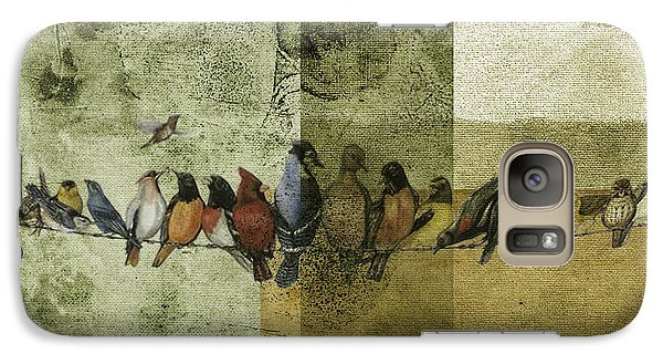 Galaxy Case featuring the digital art Birds On A Wire by Melissa Messick