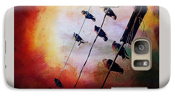 Galaxy Case featuring the photograph Birds On A Wire by Micki Findlay