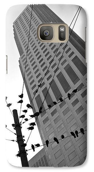 Galaxy Case featuring the photograph Birds Station by Jonathan Nguyen
