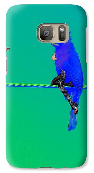 Galaxy Case featuring the painting Birdwatcher by David Mckinney