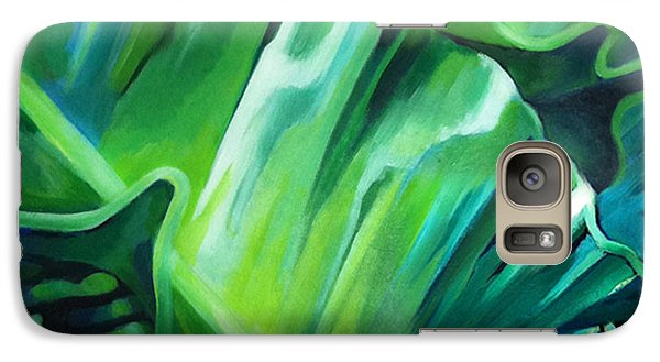 Galaxy Case featuring the painting Birdy And Friends by Angela Treat Lyon