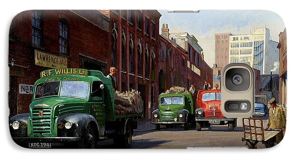Galaxy Case featuring the painting Birmingham Fruit And Veg Market. by Mike  Jeffries