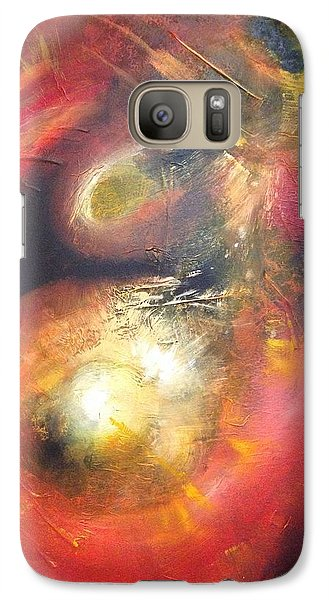 Galaxy Case featuring the painting Birth Of A Planet by Riana Van Staden