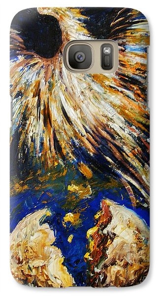 Galaxy Case featuring the painting Birth Of The Phoenix by Karen  Ferrand Carroll
