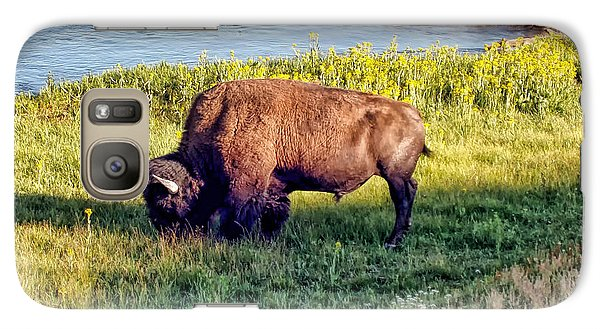 Galaxy Case featuring the photograph Bison 4 by Dawn Eshelman