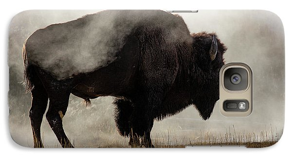 Buffalo Galaxy S7 Case - Bison In Mist, Upper Geyser Basin by Adam Jones