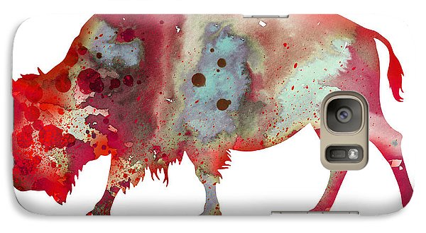 Bison Galaxy S7 Case by Watercolor Girl