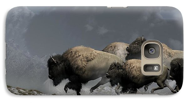 Buffalo Galaxy S7 Case - Bison Stampede by Daniel Eskridge