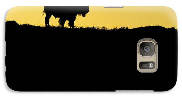 Galaxy Case featuring the photograph Bison Sunrise by Sonya Lang