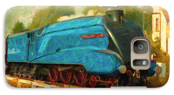 Galaxy Case featuring the digital art Bittern Locomotive by Chuck Mountain
