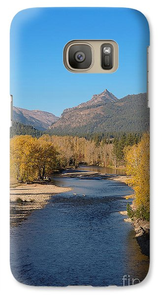 Galaxy Case featuring the photograph Bitterroot River Fall by Joseph J Stevens
